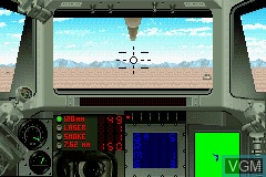 In-game screen of the game Operation Armored Liberty on Nintendo GameBoy Advance