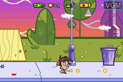 In-game screen of the game Fairly OddParents!, The - Breakin' da Rules on Nintendo GameBoy Advance