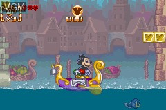 In-game screen of the game Mickey to Donald no Magical Quest 3 on Nintendo GameBoy Advance