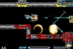 In-game screen of the game R-Type III on Nintendo GameBoy Advance