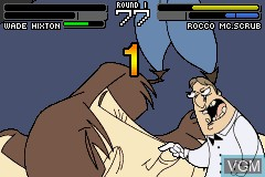 In-game screen of the game Wade Hixton's Counter Punch on Nintendo GameBoy Advance
