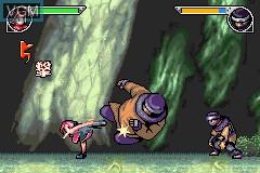 In-game screen of the game Naruto - Saikyou Ninja Daikesshuu 2 on Nintendo GameBoy Advance