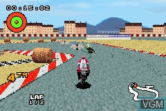 In-game screen of the game XS Moto on Nintendo GameBoy Advance