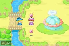 In-game screen of the game Wagamama Fairy Mirumo de Pon! - Yume no Kakera on Nintendo GameBoy Advance