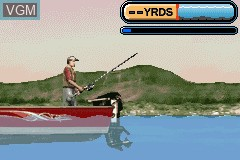 In-game screen of the game Rapala Pro Fishing on Nintendo GameBoy Advance