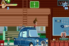 In-game screen of the game Adventures of Jimmy Neutron Boy Genius, The - Attack of the Twonkies on Nintendo GameBoy Advance