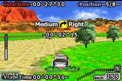 In-game screen of the game GT Advance 2 - Rally Racing on Nintendo GameBoy Advance