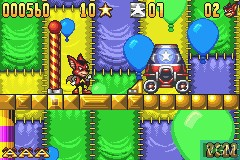 In-game screen of the game Aero the Acro-Bat - Rascal Rival Revenge on Nintendo GameBoy Advance