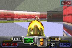 In-game screen of the game Dark Arena on Nintendo GameBoy Advance