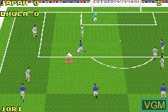 In-game screen of the game David Beckham Soccer on Nintendo GameBoy Advance