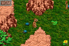 In-game screen of the game E.T. - The Extra-Terrestrial on Nintendo GameBoy Advance