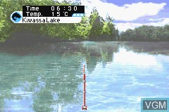 In-game screen of the game ESPN Great Outdoor Games - Bass 2002 on Nintendo GameBoy Advance