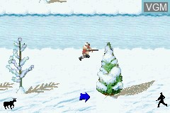 In-game screen of the game Cabela's Big Game Hunter - 2005 Adventures on Nintendo GameBoy Advance