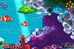 In-game screen of the game 2 Games in 1 - Die Monster AG + Findet Nemo on Nintendo GameBoy Advance