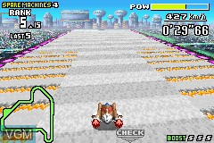 In-game screen of the game F-Zero - Maximum Velocity on Nintendo GameBoy Advance