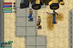 In-game screen of the game Dead to Rights on Nintendo GameBoy Advance