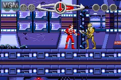 In-game screen of the game 2 Games in 1 - Power Rangers - Ninja Storm & Power Rangers - Time Force on Nintendo GameBoy Advance