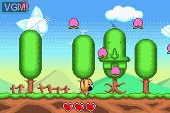In-game screen of the game Zettaizetsumei Dangerous Jiisan 3 - Hateshinaki Mamonogatari on Nintendo GameBoy Advance