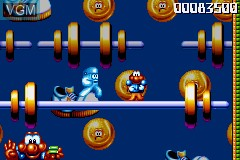 In-game screen of the game James Pond - Codename Robocod on Nintendo GameBoy Advance
