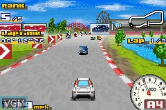 In-game screen of the game Gadget Racers on Nintendo GameBoy Advance