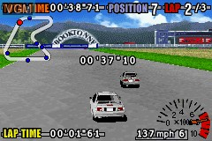 In-game screen of the game GT Advance 3 - Pro Concept Racing on Nintendo GameBoy Advance