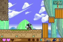 In-game screen of the game Klonoa - Empire of Dreams on Nintendo GameBoy Advance