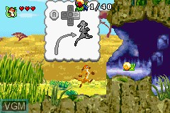 In-game screen of the game 2 Games in 1 - Brother Bear & The Lion King on Nintendo GameBoy Advance