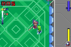 In-game screen of the game Vattroller X on Nintendo GameBoy Advance