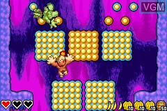 In-game screen of the game DK - King of Swing on Nintendo GameBoy Advance