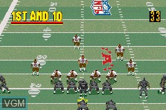 In-game screen of the game Madden NFL 2002 on Nintendo GameBoy Advance