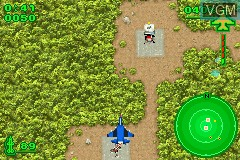 In-game screen of the game Ace Combat Advance on Nintendo GameBoy Advance