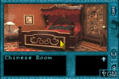 In-game screen of the game Nancy Drew - Message in a Haunted Mansion on Nintendo GameBoy Advance