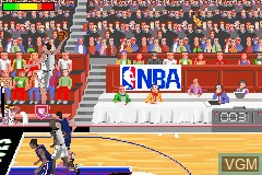 In-game screen of the game NBA Jam 2002 on Nintendo GameBoy Advance