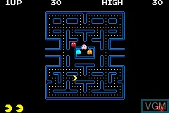 In-game screen of the game Pac-Man Collection on Nintendo GameBoy Advance