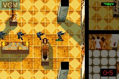 In-game screen of the game Rainbow Six - Rogue Spear on Nintendo GameBoy Advance