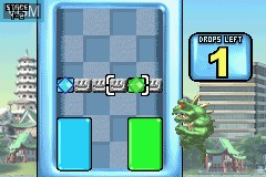 In-game screen of the game Rampage Puzzle Attack on Nintendo GameBoy Advance