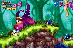 In-game screen of the game Rayman Advance on Nintendo GameBoy Advance