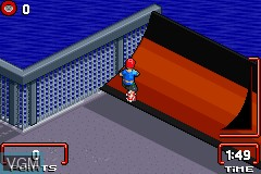In-game screen of the game Razor Freestyle Scooter on Nintendo GameBoy Advance