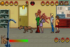 In-game screen of the game 2 Games in 1 - Scooby-Doo! - Mystery Mayhem & Scooby-Doo! and the Cyber Chase on Nintendo GameBoy Advance