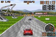 In-game screen of the game Top Gear GT Championship on Nintendo GameBoy Advance