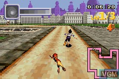 In-game screen of the game X-Bladez - Inline Skater on Nintendo GameBoy Advance