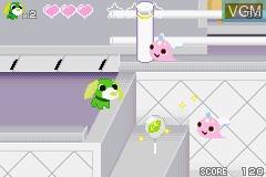 In-game screen of the game Ochaken no Yumebouken on Nintendo GameBoy Advance