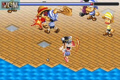 In-game screen of the game One Piece - Dragon Dream on Nintendo GameBoy Advance