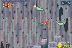 In-game screen of the game 2 Games in 1 - Disneys Prinzessinnen + Baerenbrueder on Nintendo GameBoy Advance