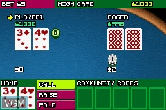 In-game screen of the game 2 Games in 1 - Golden Nugget Casino + Texas Hold 'em Poker on Nintendo GameBoy Advance