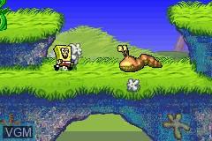 In-game screen of the game 2 Games in 1 - Rugrats - Go Wild + SpongeBob SquarePants - SuperSponge on Nintendo GameBoy Advance