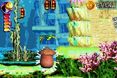 In-game screen of the game 2 in 1 Game Pack - Shrek 2 & Shark Tale on Nintendo GameBoy Advance
