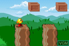 In-game screen of the game Pac-Man World 2 on Nintendo GameBoy Advance