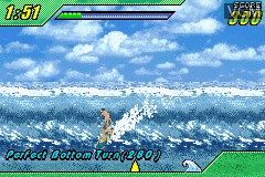 In-game screen of the game 2 in 1 Game Pack - Tony Hawk's Underground + Kelly Slater's Pro Surfer on Nintendo GameBoy Advance