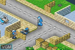 In-game screen of the game Rebelstar - Tactical Command on Nintendo GameBoy Advance